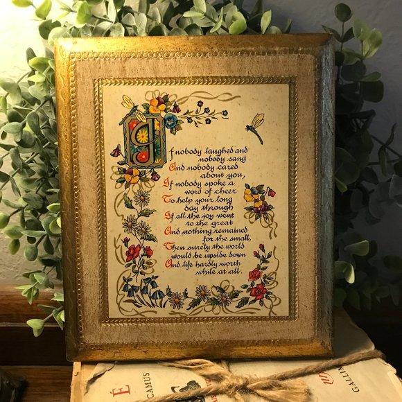 vintage Florentine plaque